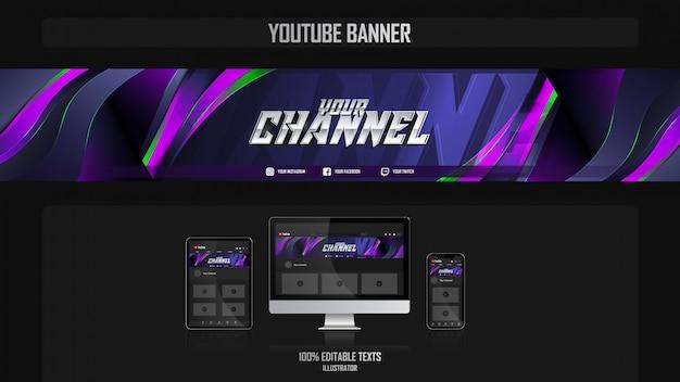 Banner para canal de mídia social com conceito de música