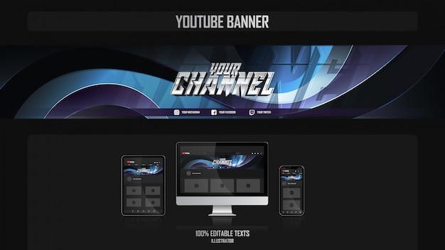 Banner para canal de mídia social com conceito esthetic