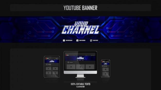 Banner para canal do youtube com conceito fantasy