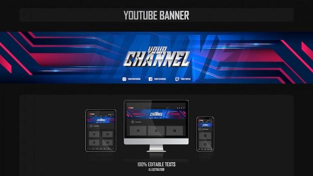 Banner para canal do youtube com conceito night