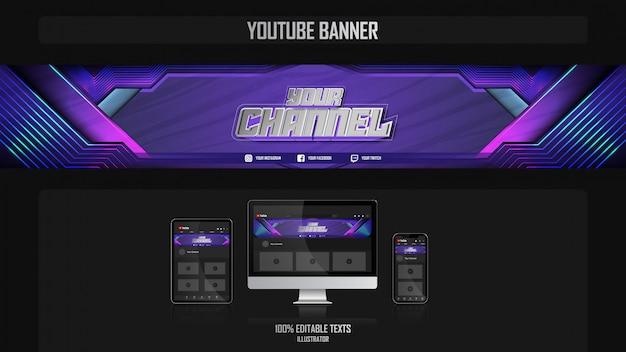 Banner para o canal de mídia social com o conceito crossfit