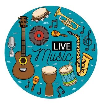 Banner para o concerto música ao vivo