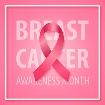Banner para o mês de conscientização de câncer de mama.