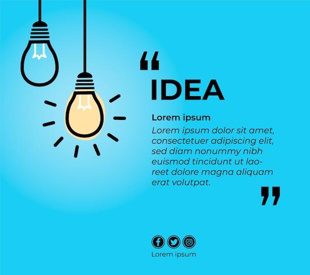 Banner para orçamento com lâmpadas