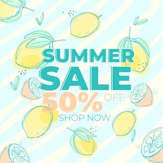 Banner para venda de verão com desconto