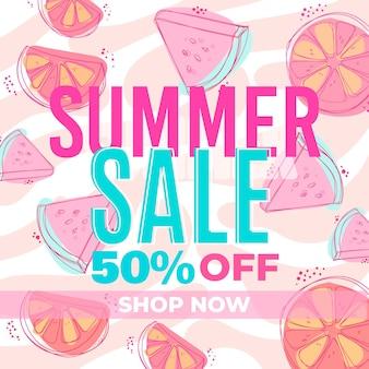 Banner para venda de verão