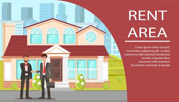 Banner plana de agência imobiliária