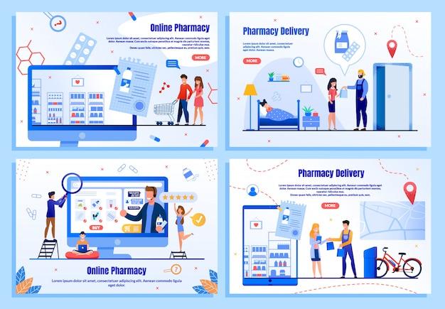 Banner plana de farmácia on-line