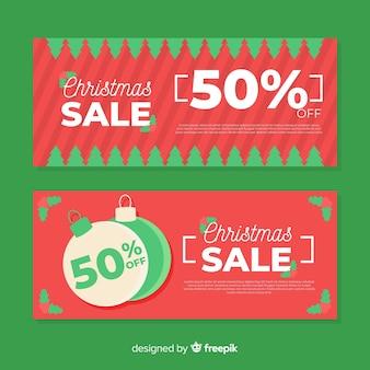 Banner plana de venda de natal