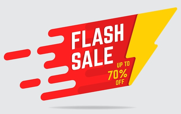 Banner plana de venda flash