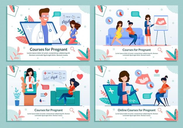 Banner plana definir cursos de publicidade para grávidas