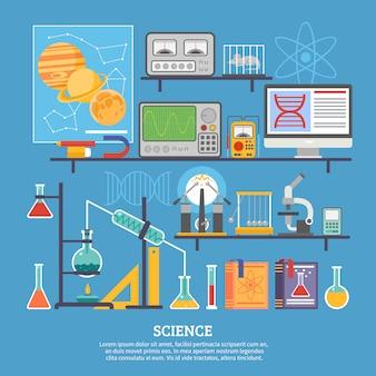 Banner plano de laboratório de pesquisa científica