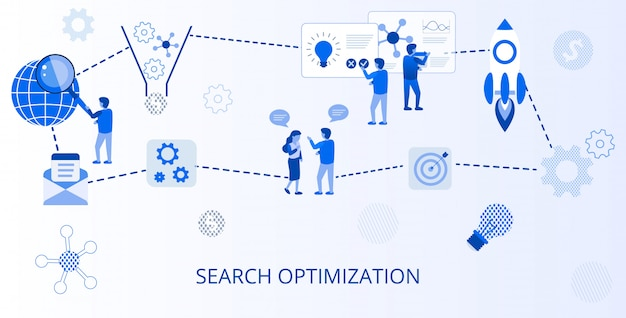 Banner plano de publicidade on-line de otimização de pesquisa