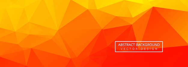 Banner poligonal geométrico abstrato