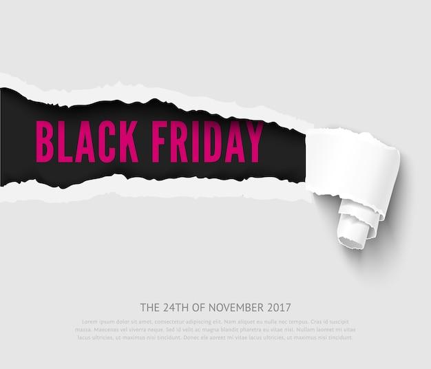 Banner preto de venda sexta-feira