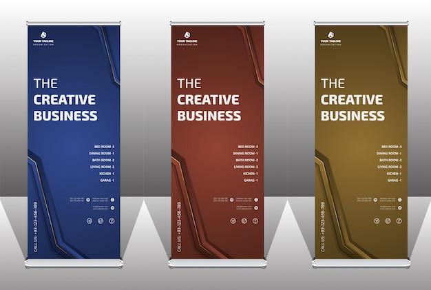 Banner profissional elegante e modelo de negócios