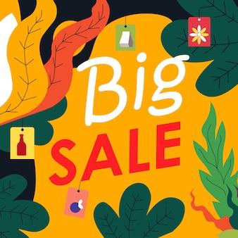 Banner promocional de grande venda para loja ou loja