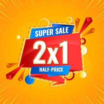 Banner promocional de super venda