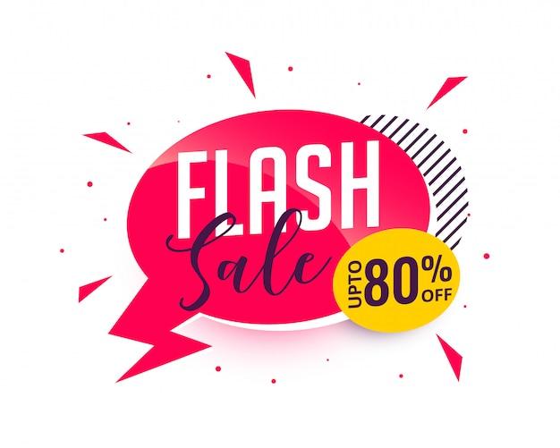 Banner promocional de venda em flash