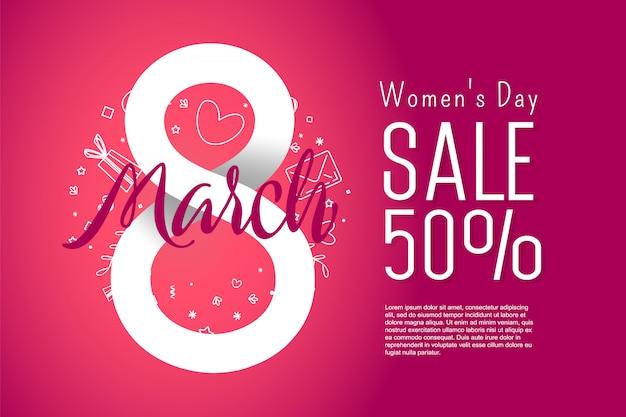 Banner publicitário feminino internacional