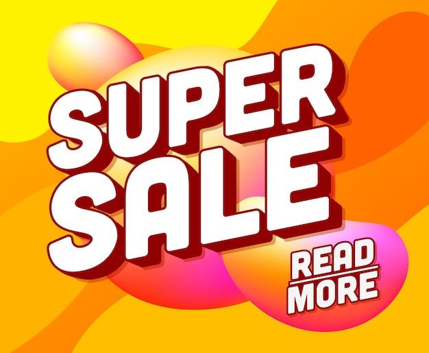 Banner quadrado de super venda