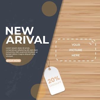 Banner quadrado web de promoção moderna para mídia social, aplicativos móveis, ilustração em vetor 3d
