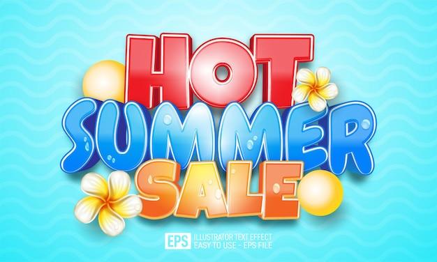 Banner realista de verão quente Vetor Premium