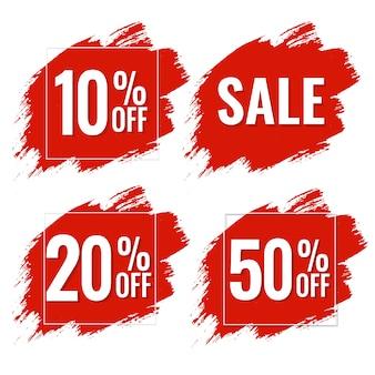 Banner red blobs de venda, ilustração