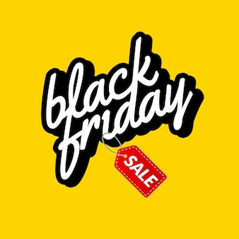 Banner retro de letras caligráficas de black friday