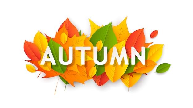 Banner sazonal de outono