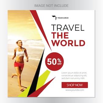 Banner social de viagem