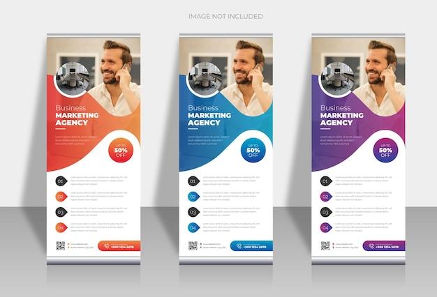Banner standee com design moderno e elegante