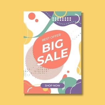 Banner super venda, design colorido e lúdico. ilustração vetorial