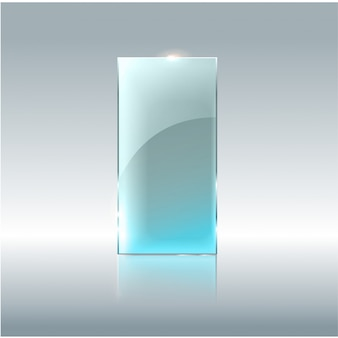 Banner transparente de vidro. placas de vidro de vetor com um lugar para inscrições isoladas em fundo transparente.