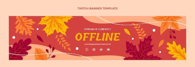 Banner twitch de outono