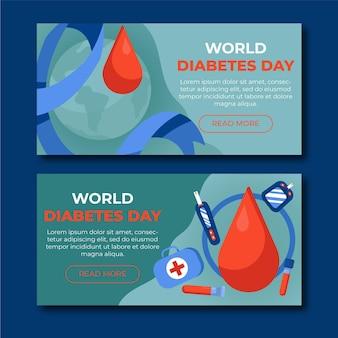 Banner uniforme do dia mundial da diabetes