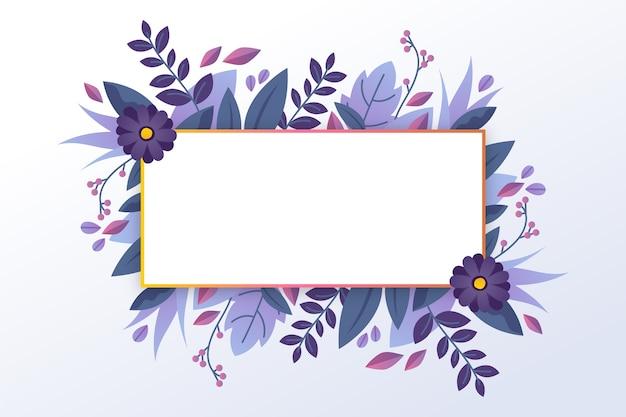 Banner vazio com botânica de inverno