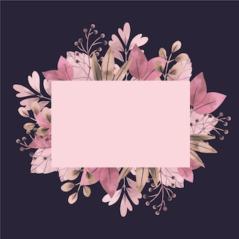 Banner vazio com flores de inverno