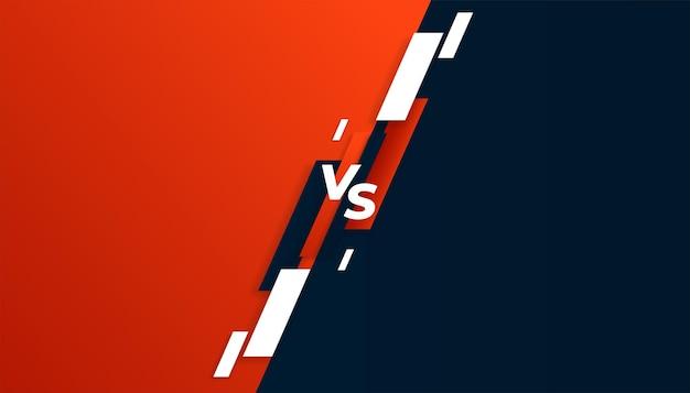 Banner versus vs comparação nas cores vermelha e preta