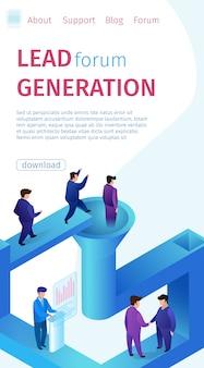 Banner vertical de geração de fórum de lead popular.