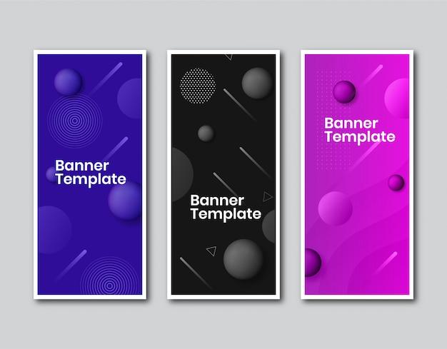 Banner vertical de negócios com design de bolha