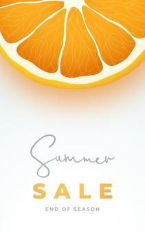 Banner vertical de venda de verão