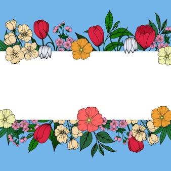 Banner vintage floral.