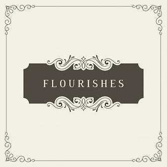 Banner vintage. quadro de floresce. modelo de cartão ornamental.