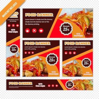 Banner web definido para restaurante