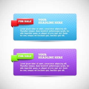 Banner web horizontal moderno