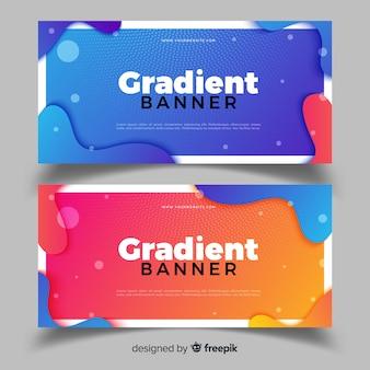 Banners abstratas com design de gradiente