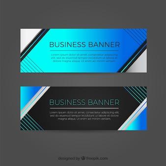 Banners abstratos com linhas
