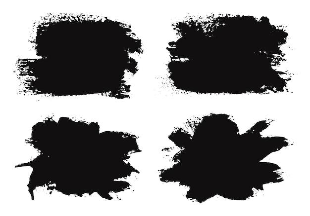 Banners abstratos de grunge preto