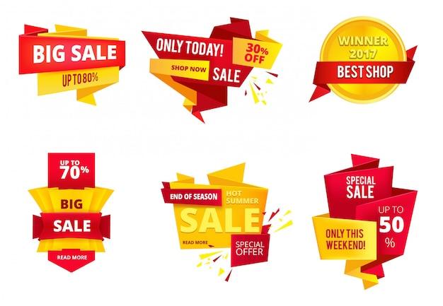 Banners abstratos de oferta especial